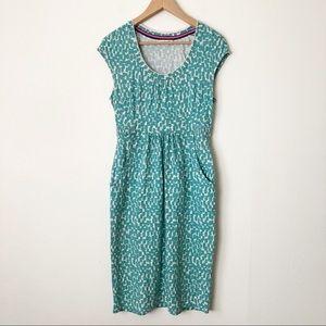 Boden Margot Jersey Knit Printed Cap Sleeve Dress